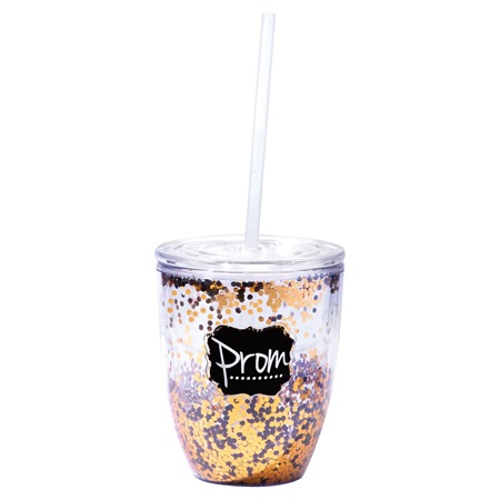Prom Gold Glitter Acrylic Cup