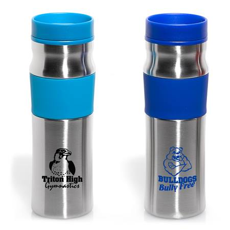 16 oz. Beveled Stainless Steel Tumbler