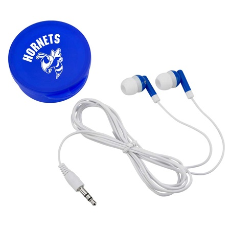 Earbuds with Round Case