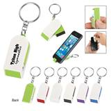 Phone Stand/Screen Cleaner Key Chain