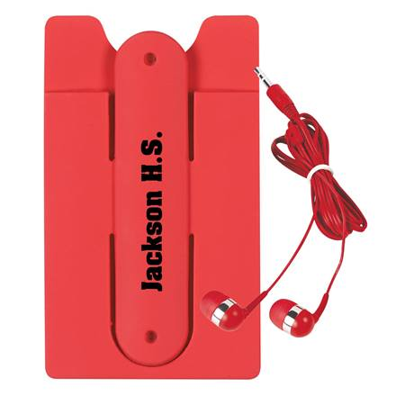 Phone Wallet With Ear Buds