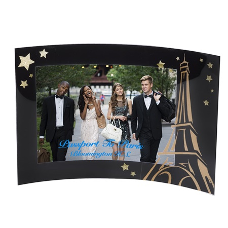 Golden Tower Acrylic Curved Frame