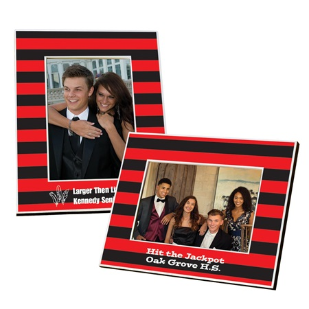 Full-color Frame - Red and Black Striped
