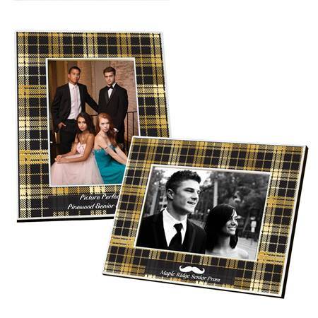 Full-color Frame - Gold and Black Plaid