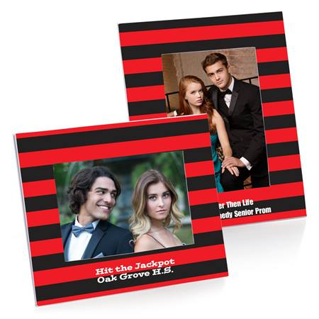 Full-color Budget Frame - Red and Black Striped