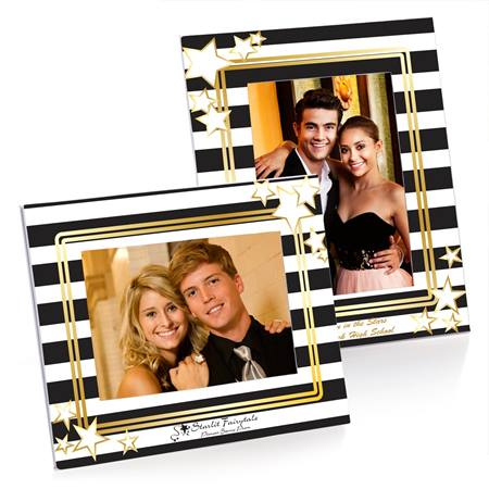 Full-color Budget Frame - Black and White Stripes
