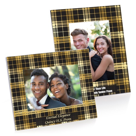 Full-color Budget Frame - Gold and Black Plaid
