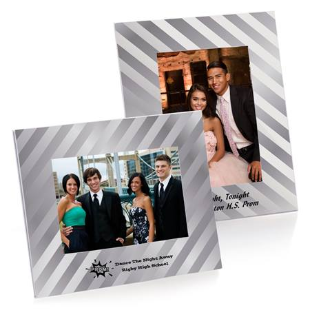 Full-color Budget Frame - Metallic Silver Stripe