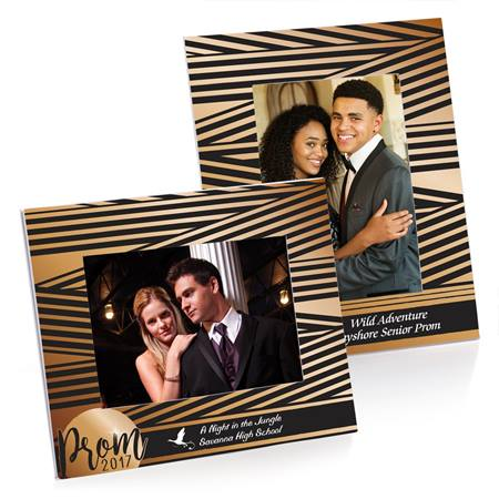 Full-color Budget Frame - Black and Gold Stripes