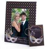 Full-color Frame and Key Chain Set - Single Silver Mask