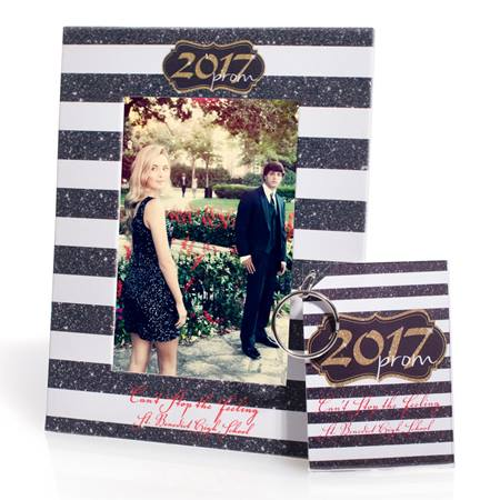Full-color Frame and Key Chain Set - Gold Glitter 2017