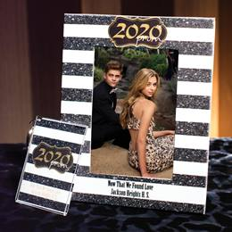 Full-color Frame and Key Chain Set - Gold Glitter Prom 2020