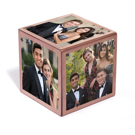 Rose Gold PROM Photo Cube