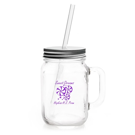 Jagger Mason Jar With Lid and Straw