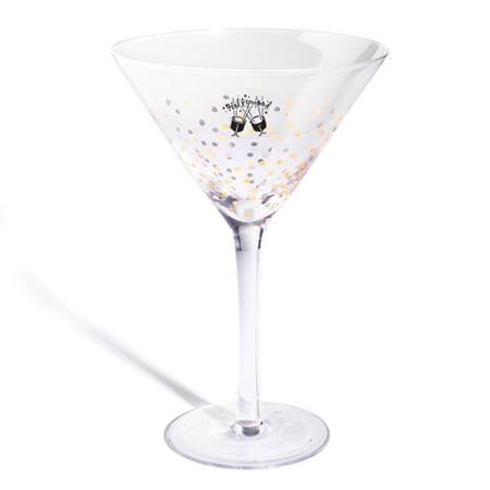 Dipped In Dots Party Glass