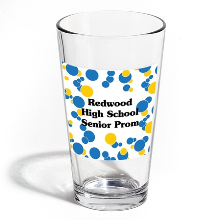 Full-color Cardini Tumbler - Blue and Gold Bubbles