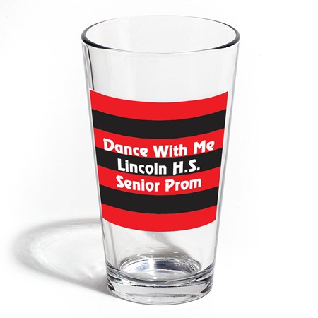 Full-color Cardini Tumbler - Black and Red Striped