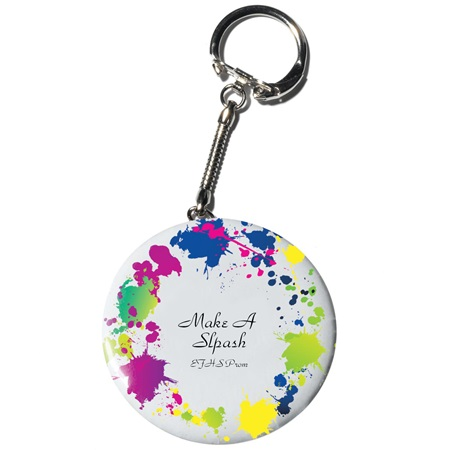 Full-color Button Key Chain - Make A Splash