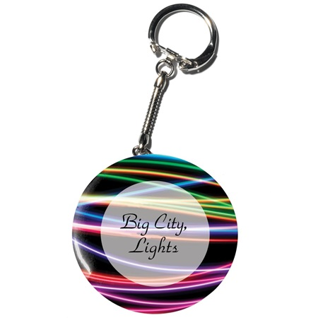 Full-color Button Key Chain - Club Prom