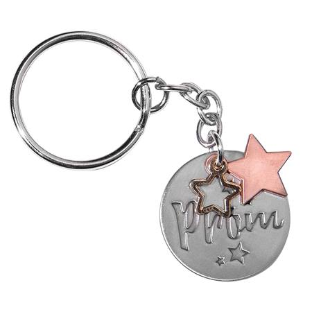 Silver/Copper Prom Stars Key Chain