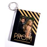 Prom Stripes Photo Key Chain