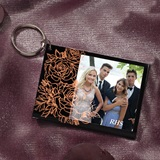Copper Roses Photo Key Chain