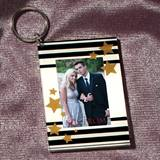 Stars and Bars Photo Key Chain