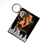 Silver Cityscape Photo Key Chain