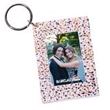 Confetti Sparkle Photo Key Chain
