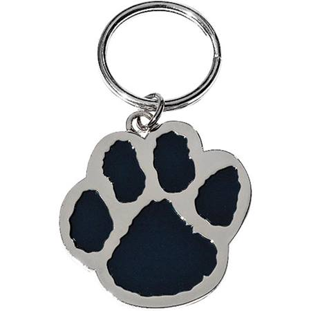 Paw Key Tag - Black/Silver - Blank