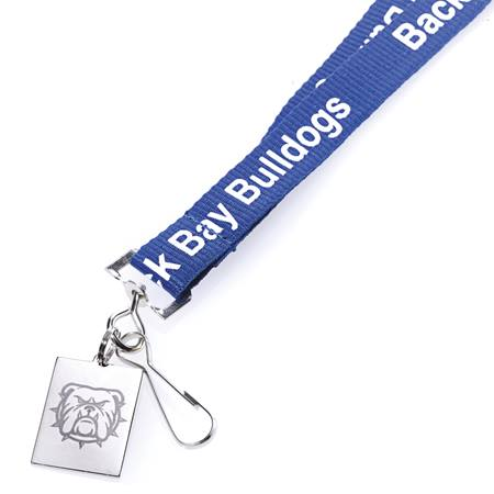 Woven Lanyard With Engraved Metal Tag