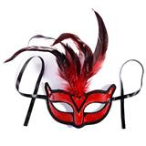 Ruby Red Chanteuse Feather Mask