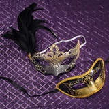 Black and Gold Mask Set