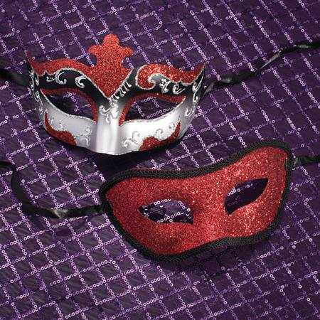 Red, Black, and Silver Mask Set
