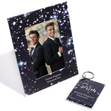 Full-color Frame and Key Chain Set - Sky Sparkle
