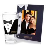 Full-color Frame and Tumbler Favor Set - Formal Tuxedo