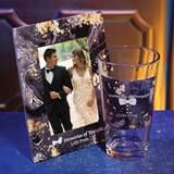 Full-color Frame and Tumbler Set - Black and Gold Marble