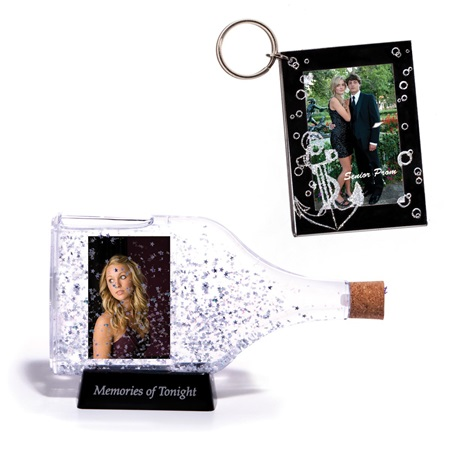 Nautical Night Frame and Key Chain Favor Set