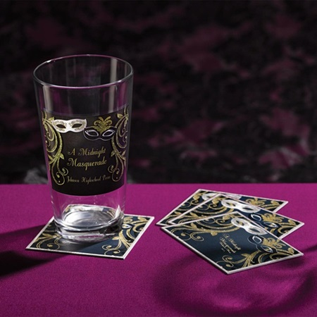 Ballantyne Glass Tumbler and Coasters Favor Set