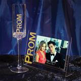 Gold Glitterama Prom Flute and Frame Set