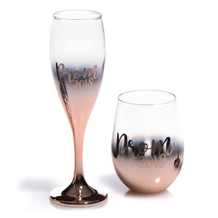 Ombre Rising Prom 2018  Flute and Tumbler Set