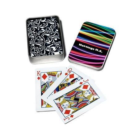 Full-color Playing Card Tins - Club Prom