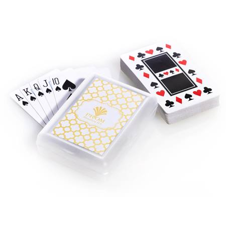 Playing Cards and Case With Metallic Foil Label - Moroccan