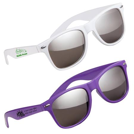 Silver Mirrored Malibu Sunglasses