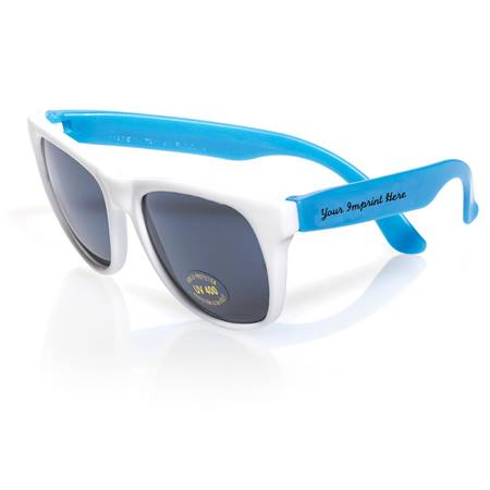 White Frame Neon Sunglasses