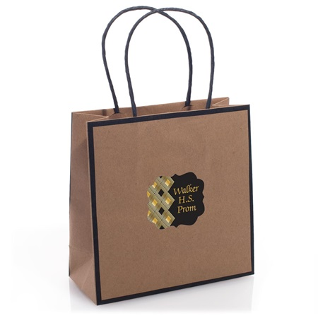 Favor Bag With Personalized Sticker - Natural Kraft