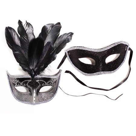 Black Glitter Mask Set