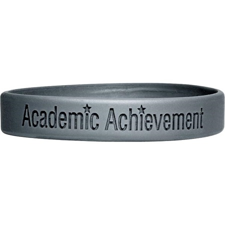 Laser Engraved Silicone Wristband – Academic Achievement