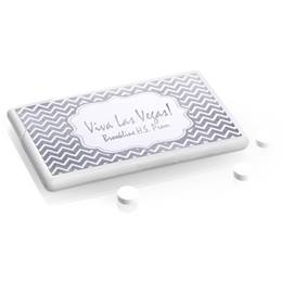 Metallic Foil Mini Mints - Silver Chevrons