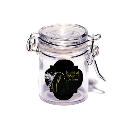 Full-color Mini Glass Jar with Swing Top Lid